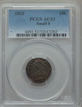 Bust Dimes: , 1820 10C Small 0 AU53 PCGS. PCGS Population (3/15). Numismedia Wsl.Price for problem free NGC/PCGS coi...