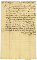 "Autographs:Statesmen, Nathaniel Gorham Autograph Letter Signed ""Nathaniel Gorham,""one page, 7.5"" x 10.5"". Charlestown, February 21, 1775. Add...(Total: 1 Item)"