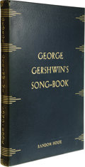 Books:Signed Editions, George Gershwin: Signed Limited First Edition of George Gershwin's Song-Book (New York: Random House, 1932), first editi... (Total: 1 Item)