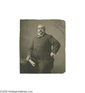 Boxing Collectibles:Autographs, Circa 1908 John L. Sullivan Signed Oversized Cabinet Photograph. On September 7th, 1892 the unthinkable happened--the great ...