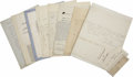 Autographs:Statesmen, President William Henry Harrison's Administration A group lot of 13autographs in various formats by cabinet members and sta... (Total:13 Items)