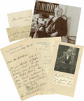 Autographs:Statesmen, Group Lot of Eight Autographs by Politicians and Statesmenincludes: Joseph McKenna (two signatures); John Sherman (...(Total: 8 Items)