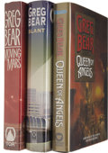 Books:Signed Editions, Greg Bear Signed First Editions.... (Total: 3 Items)