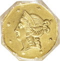 California Fractional Gold, 1853 $1 Liberty Octagonal 1 Dollar, BG-519, Low R.4, MS65 NGC....