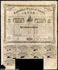 Confederate Notes:Group Lots, Ball 255 Cr. UNL $1000 1863 Very Fine. . ...