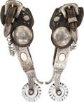 Western Expansion:Cowboy, Fancy Double Mounted Custom Order Spurs by Bohlin....