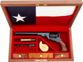 Handguns:Single Action Revolver, Cased Reproduction Colt Texas Paterson Revolver by Fratelli and Pietta....