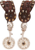 Western Expansion:Cowboy, California Style Spurs Attributed to Mike Morales....
