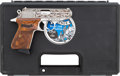 Handguns:Semiautomatic Pistol, Cased Engraved Walther Model PPK/S-1 Semi-Automatic Pistol....