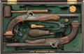 Handguns:Muzzle loading, Cased Pair of LePage Parlor Pistols.... (Total: 2 Items)