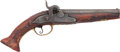 Handguns:Muzzle loading, Engraved Unmarked Percussion Pistol....