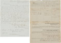 Miscellaneous:Ephemera, Two Documents Dated from the Last Days of the War....