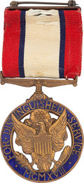 Military & Patriotic:WWI, Cased Posthumous, Interwar U.S. Army Distinguished Service Medal to Col. Edward C. Register, Issued in 1920...