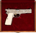 Handguns:Semiautomatic Pistol, Cased Engraved Browning Hi-Power Semi-Automatic Pistol....