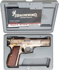 Handguns:Semiautomatic Pistol, Cased Belgian Browning Second Amendment Limited Edition Hi-Power Semi-Automatic Pistol....