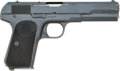 Handguns:Semiautomatic Pistol, Husqvarna Browning Semi-Automatic Pistol with Leather Holster....