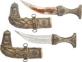 Edged Weapons:Daggers, Matched Pair of Indo-Arab Jambiya Daggers.... (Total: 2 Items)