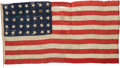 Military & Patriotic:Civil War, U.S. 35 Star Flag, Completely Hand Sewn....