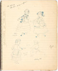 Books:Original Art, [Garth Williams, illustrator]. Personal Sketchbook ContainingNumerous Drawings and Story Ideas. ...