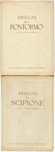 Books:Art & Architecture, Luisa Becherucci, editor. Disegni del Pontormo. [together with:] Giuseppe Marchiori, editor. Disegni di Scip... (Total: 2 Items)