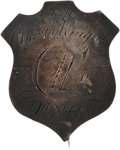 Military & Patriotic:Civil War, Civil War Silver I.D. Pin, Charles H. Knight, Co I, 9th NH, Awarded the Medal of Honor. ...