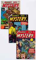 Golden Age (1938-1955):Horror, Journey Into Mystery Group (Marvel, 1954-55) Condition: AverageGD/VG.... (Total: 3 Comic Books)