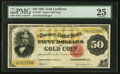 Large Size:Gold Certificates, Fr. 1197 $50 1882 Gold Certificate PMG Very Fine 25.. ...