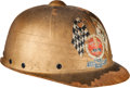 Miscellaneous Collectibles:General, 1947 Pop Myers Signed Soap Box Derby Helmet....