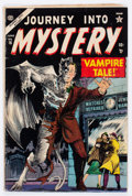 Golden Age (1938-1955):Horror, Journey Into Mystery #16 (Marvel, 1954) Condition: GD/VG....
