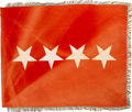 Military & Patriotic:WWII, From the Collection of General Mark Clark: U.S. Army Four Star General's Flag....