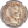 Barber Dimes, 1895-S 10C MS65 NGC....