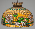 Art Glass:Other , AMERICAN HANGING LEADED GLASS LAMP, circa 1905. 20 inches high x 20inches diameter (50.8 x 50.8 cm). ... (Total: 3 Items)