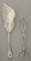 Silver Flatware, American, TWO AMERICAN SILVER AND SILVER GILT SERVING PIECES, circa 1900.Marks to both: G, STERLING, HANSEL, SLOAN & CO.; G,STERLI... (Total: 2 Items)