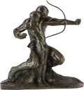 Sculpture, AMADEO GENNARELLI BRONZE 'THE YOUNG ARCHER'. Circa 1930. 26 inches (66.0 cm) high inscribed on base: A. Gennorelli 54 / 19...
