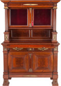 Furniture , A NAPOLEON III MAHOGANY, GILT BRONZE AND GLASS CABINET, circa 1900. 69-1/4 x 50 x 22-1/4 inches (175.9 x 127 x 56.5 cm). P... (Total: 2 Items)
