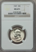 Washington Quarters: , 1947 25C MS67+ NGC. NGC Census: (202/0). PCGS Population (71/0).Mintage: 22,556,000. Numismedia Wsl. Price for problem fre...
