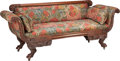 Furniture , AN AMERICAN NEOCLASSICAL UPHOLSTERED MAHOGANY SETTEE, circa 1820. 32-1/2 x 79 x 26 inches (82.6 x 200.7 x 66.0 cm). PROPER...