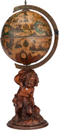 Paintings, AN ITALIAN GLOBE-FORM CAVE A LIQUEUR, 20th century. 46 inches high (116.8 cm). ... (Total: 11 Items)