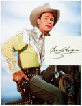 Autographs:Celebrities, Roy Rogers Autograph. ...