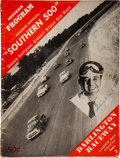 Miscellaneous Collectibles:General, 1951 Johnny Mantz & Others Signed Darlington Raceway Southern 500 Program....