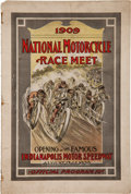 Miscellaneous Collectibles:General, 1909 National Motorcycle Race Meet Program....