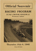 Miscellaneous Collectibles:General, 1946 Funk's Motor Speedway Racing Program....