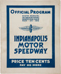 Miscellaneous Collectibles:General, 1916 Indianapolis 500 Program....