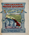 Miscellaneous Collectibles:General, 1912 Indianapolis 500 Program....