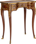 Furniture , A LOUIS XV-STYLE MAHOGANY AND GILT BRONZE TABLE A ECRIRE, circa 1900. 29 x 24-3/4 x 14-1/4 inches (73.7 x 62.9 x 36.2 cm). ...