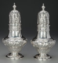 Silver Holloware, American:Other , A PAIR OF AMERICAN SILVER SUGAR CASTERS, circa 1900. Marks:STERLING. 10-3/4 inches high (27.3 cm). 27.34 troy ounces(w... (Total: 2 Items)