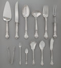 Silver Flatware, American:Gorham, SEVENTEEN GORHAM CHANTILLY PATTERN SILVER SERVING PIECES,Providence, Rhode Island, designed 1895. Marks: (lion-... (Total:17 Items)