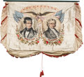 Political:Textile Display (pre-1896), Polk & Dallas: Simply the Finest Political Campaign Banner inCollectors' Hands....