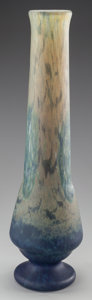 Art Glass:Daum, TALL DAUM VITRIFIED GLASS VASE, circa 1910. Marks: DAUM,NANCY, (with the cross of Lorraine). 19-3/8 inches high (49.2c...