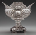 Silver Holloware, Continental, A LARGE GEORG ROTH & CO. SILVER RETICULATED CENTER BOWL, Hanau,Germany, circa 1895. Marks: GR (in heart) (effaced marks...